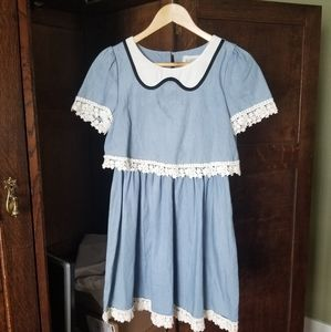Dresses & Skirts - Korean style summer dress with lace in S/M
